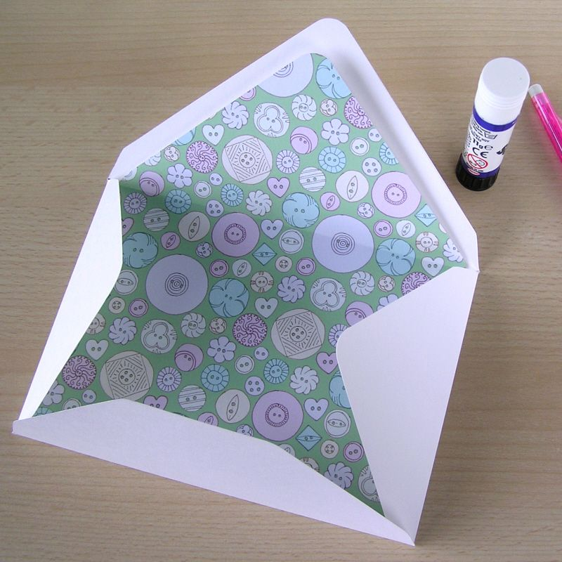 Hazel Fisher Creations: How to make lined envelopes