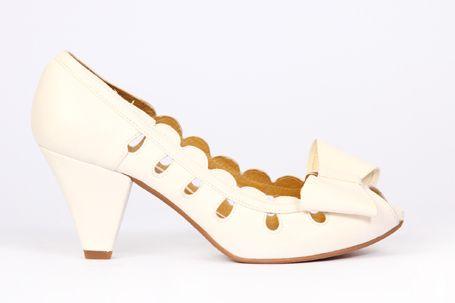 gody zapato de piel blanca con lazo | novias y fiesta (bridal