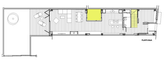 Vertical Patio House,Ground Floor Plan