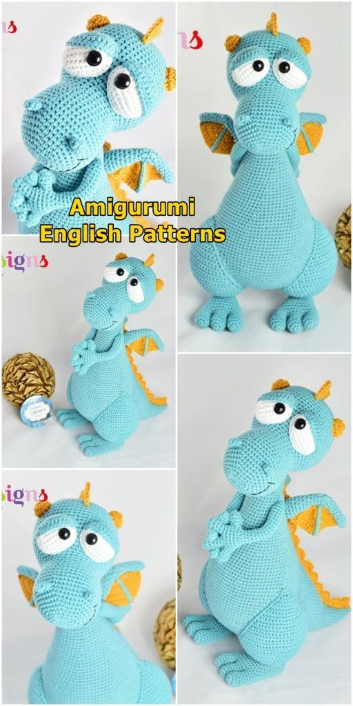 2019 Amigurumi Crochet Patterns - Amigurumi Amigurumi Dragon Patterns: The most #amigurumicrochet