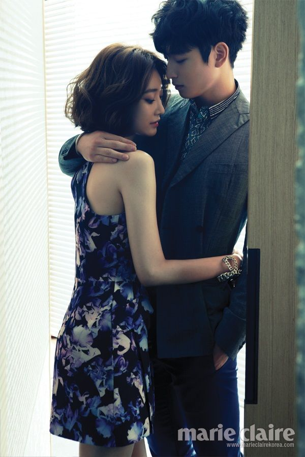 I really ship these two. Screw the 6 year age difference. Jinwoon (2AM) & Go Jun-hee | Marie Claire