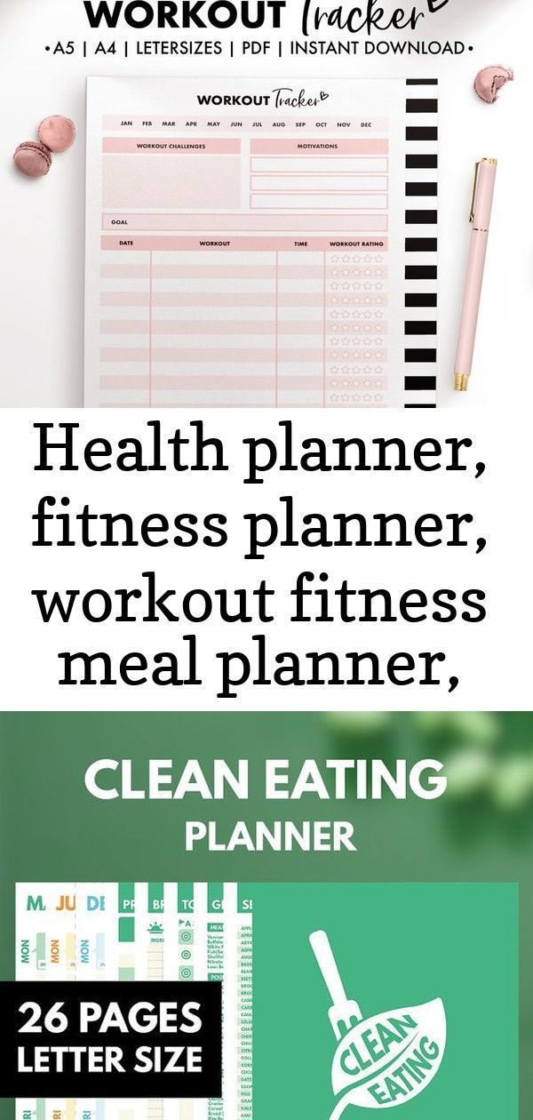 Health planner, fitness planner, workout fitness meal planner, calories tracker,... -  Health planne...