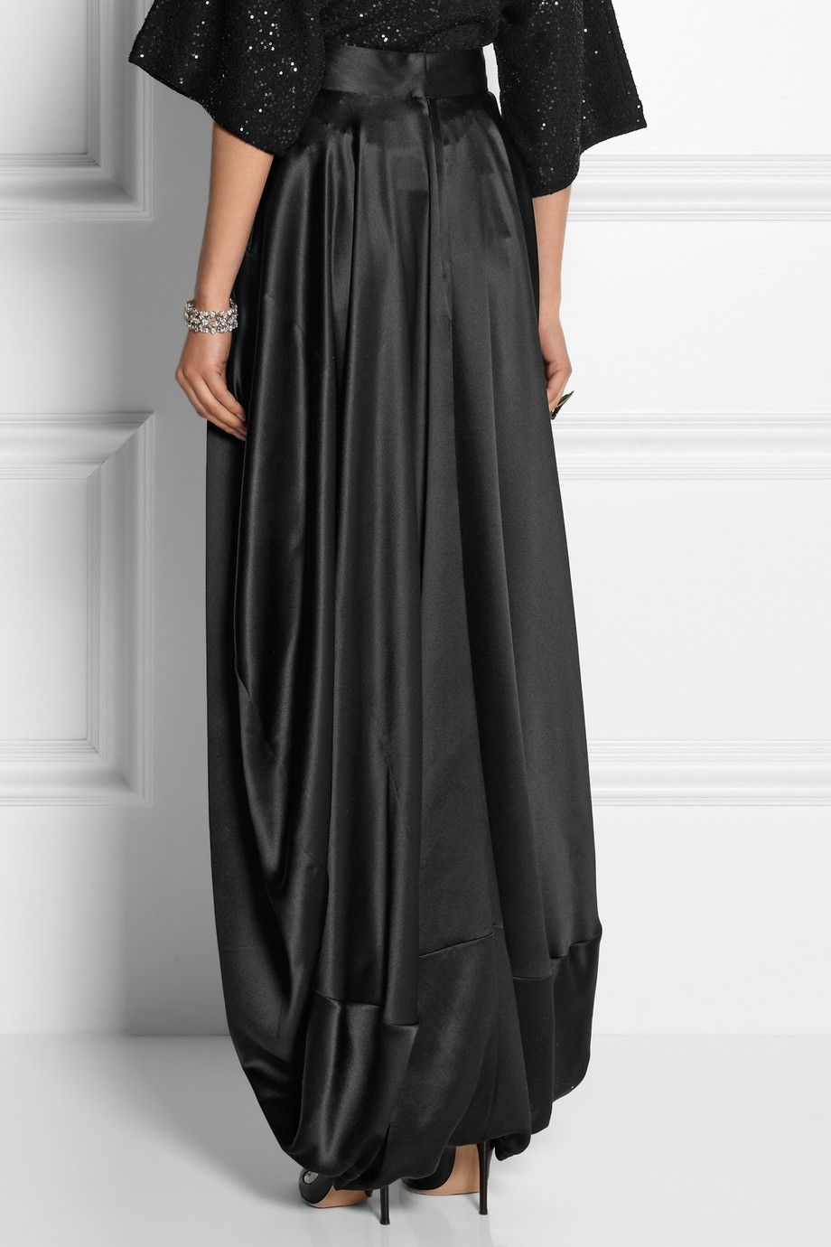 oscar-de-la-renta-black-silk-satin-maxi-skirt-product-1-19864721-0 ...