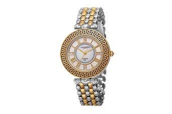 Reloj de cuarzo de acero y diamantes - Plateado y dorado