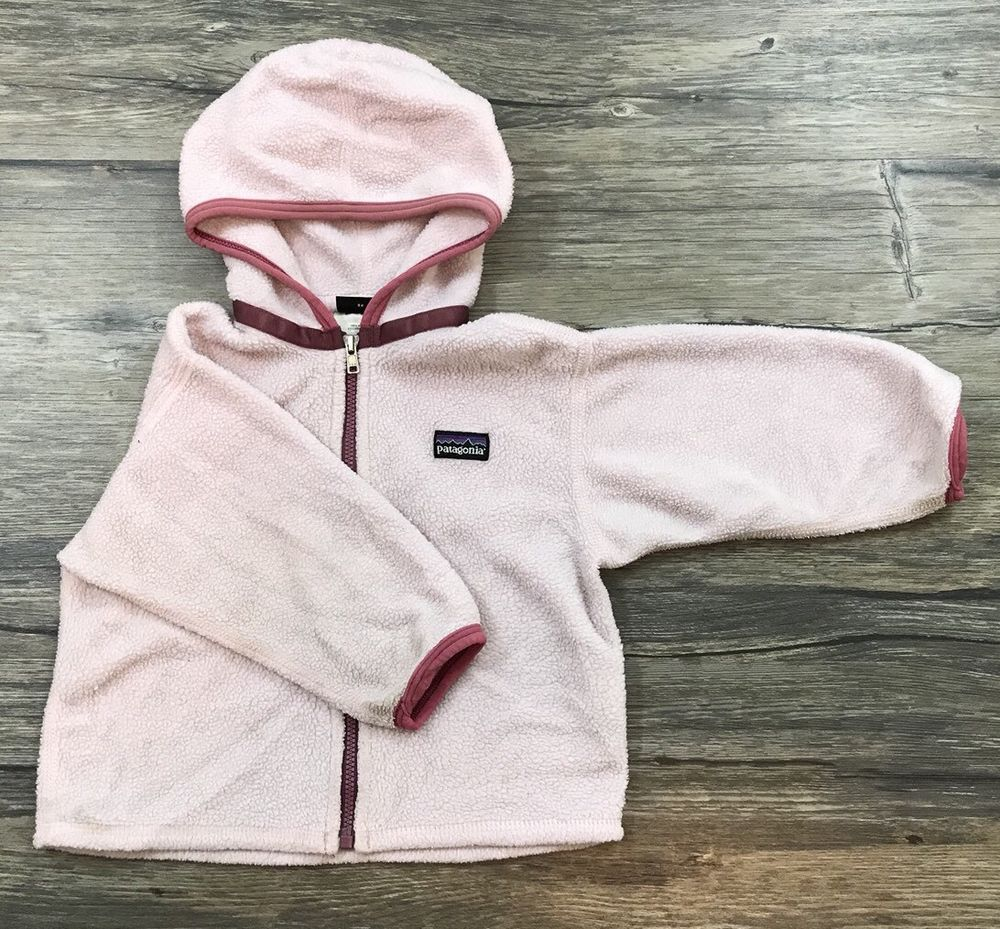 9806a7a43 Patagonia Full Zip Fleece Jacket Infant Baby Girl Sz 18 Mo / | eBay ...
