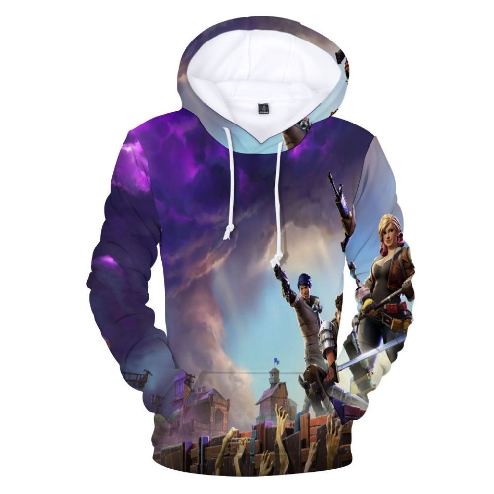 Shop Fortnite Game Battle Royale Action 3D Printed Hoodie
