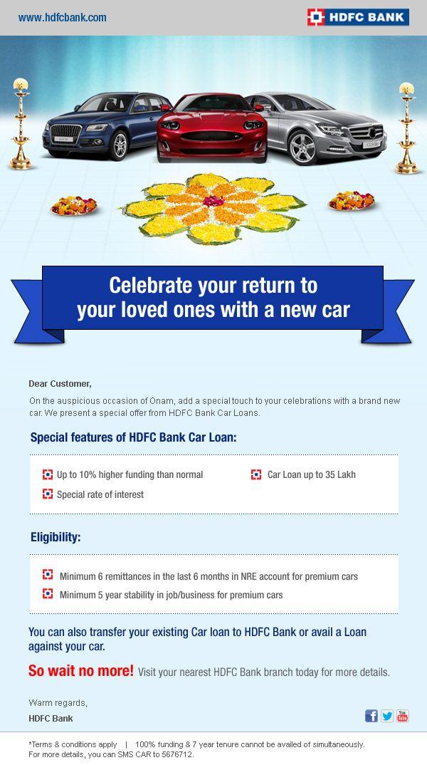 Hdfc Bank Mailer Car Loan Car Loans Loan New Cars