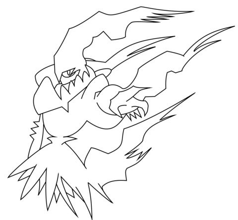 Legendare Pokemon Ausmalbilder Ausmalbild Darkrai Ausmalbilder