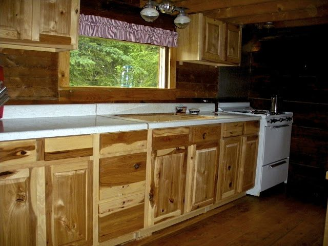 Lowe's Kitchen Cabinets (Hickory) Cabin Style