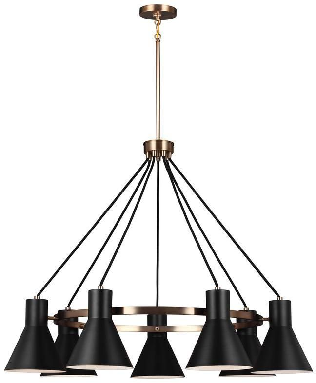 Sea gull lighting towner 7 light satin bronze chandelier