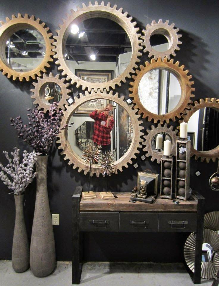 attractive ideas steampunk furniture. Industrial design  industrial decor gear mirrors home cogwheel from Mercana Steam Punk Decor