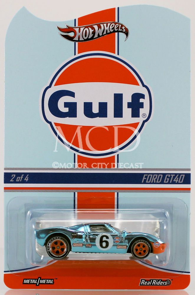 2013 Hot Wheels Rlc Real Riders Gulf Racing Ford Gt40 Hot Wheels