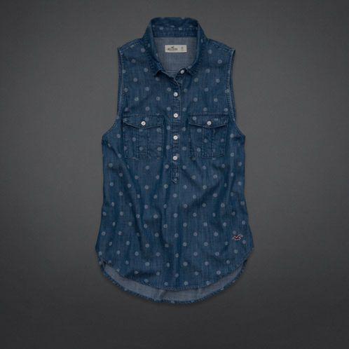 Girls El Porto Beach Chambray Shirt