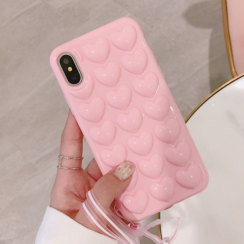 1 59 3d Love Heart Soft Silicone Shockproof Case Rubber Cover For Iphone X 6 7 8 Plus Ebay Electronics Custodie Per Iphone Cover Cellulare Iphone