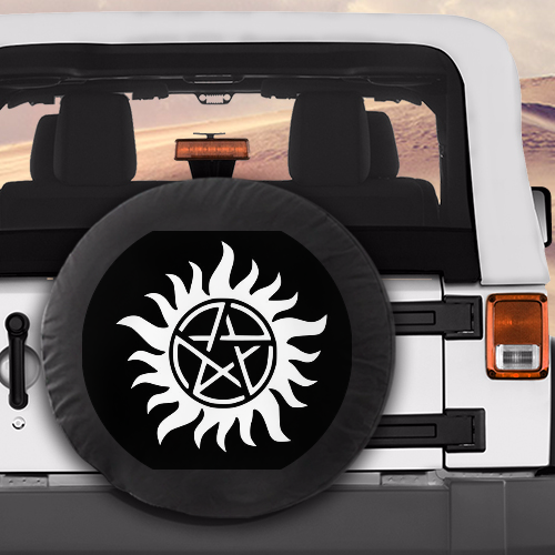 Anti Possession Tire Cover Supernatural Jeep Spare Tire Covers
