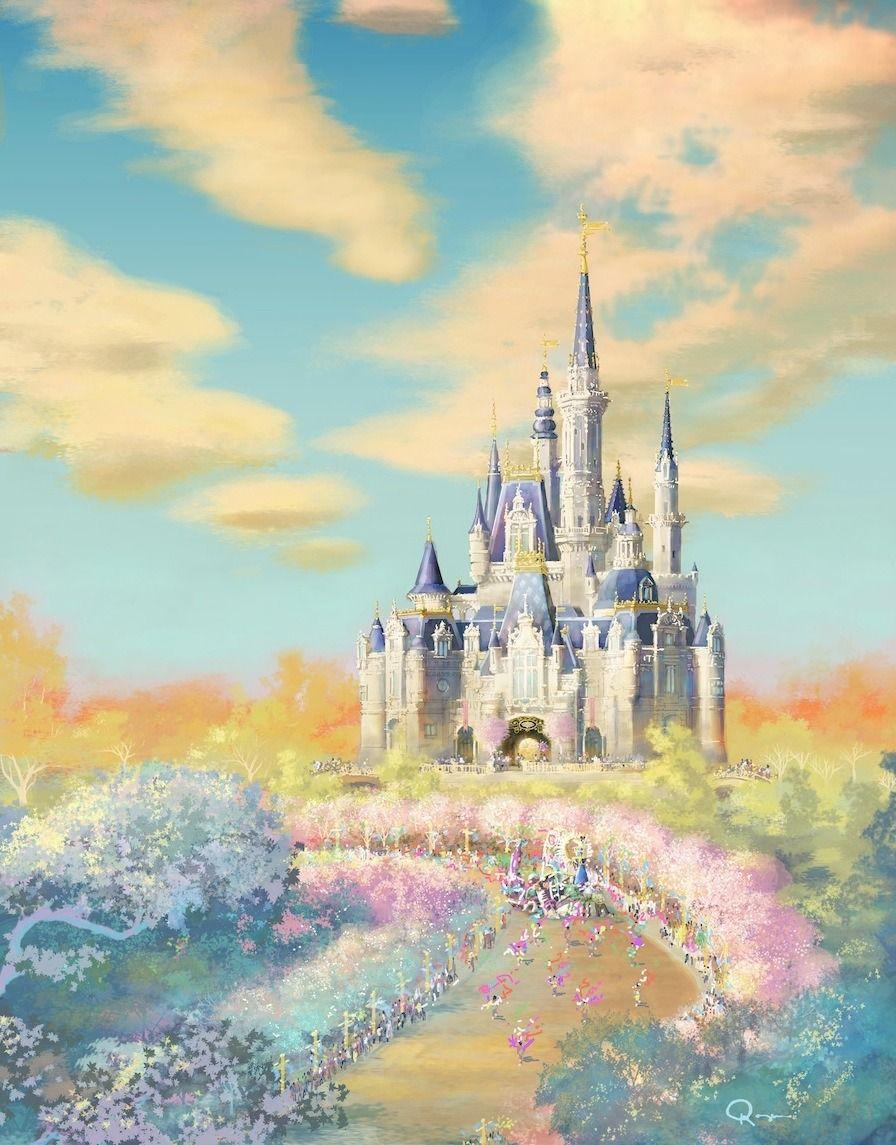 The Disney Parks • Concept art for Shanghai\'s Princess Castle ...