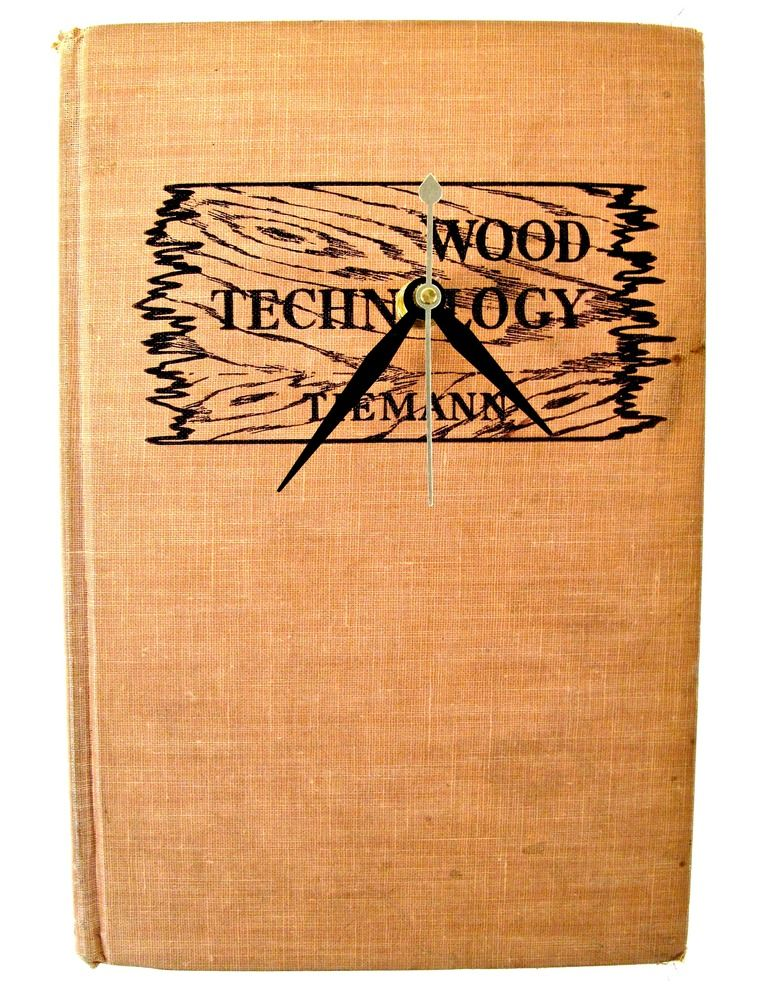 Wood Technology $35 // vintage book clock