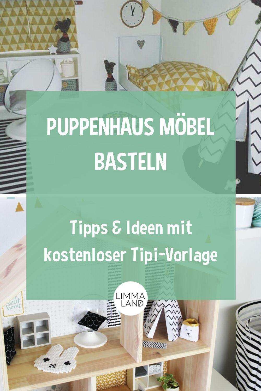 Ikea Puppenmobel Pimpen Und Bastelvorlage Tipi Fur Puppenhaus In 2020 Puppenhaus Diy Puppenhaus Mobel Puppenhaus Spielzeug