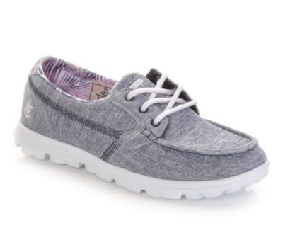 Skechers Go Walk 3 Fitknit Lace Up Purple Sneakers