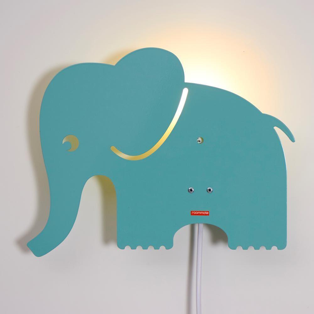 Kinderräume roommate wandle elefant metall mint bei kinder räume