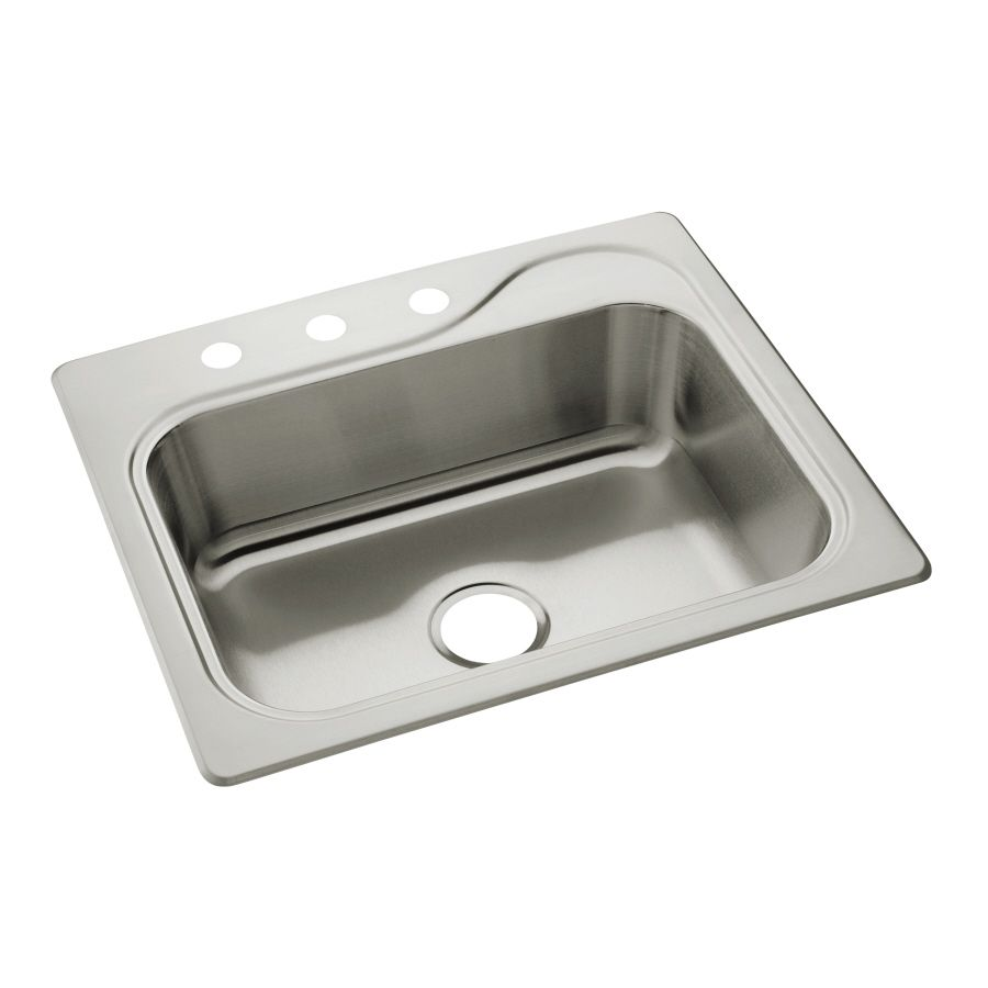 Sterling Southhaven 22 In X 25 In Satin Single Basin Stainless