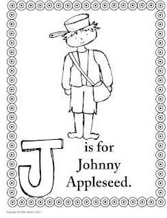 Johnny Appleseed coloring pages Pre K FUN Pinterest Johnny