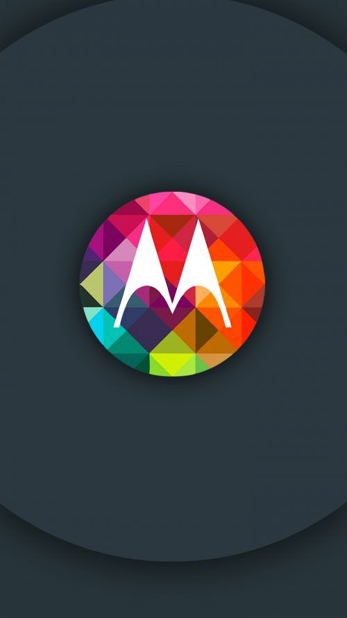 Motorola Moto Z Wallpaper With Logo And Colorful Triangles