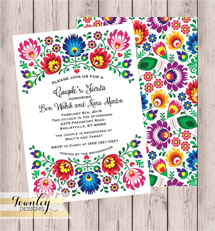 Fiesta Couples Shower Invitation, 5x7, Bridal Shower, Engagement ...