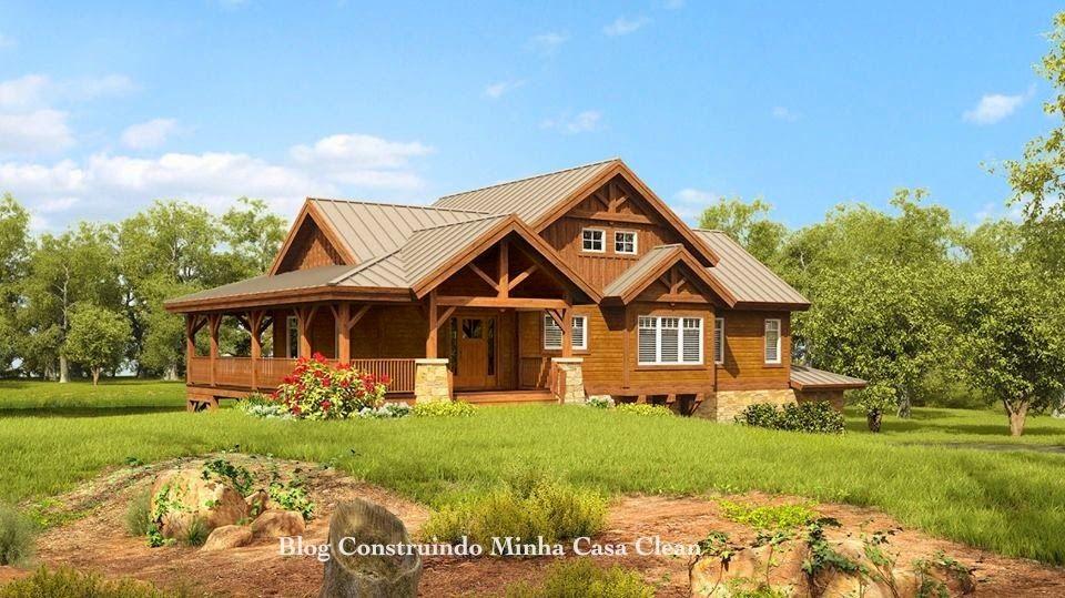 Fachadas de casas de campo maravilhosas hogar for Fachadas de cabanas rusticas
