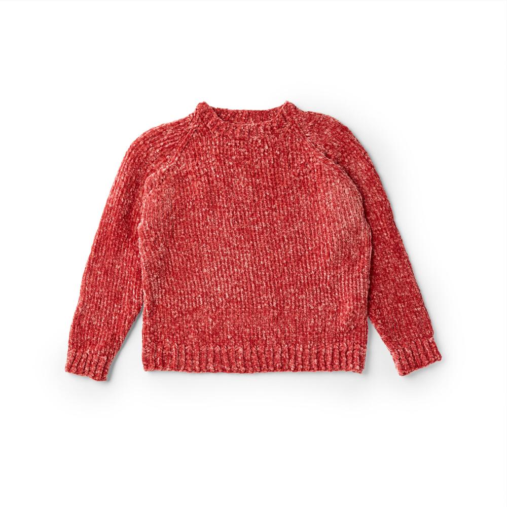 Bernat Knit Top Down Pullover, XS/S | Yarnspirations in ...