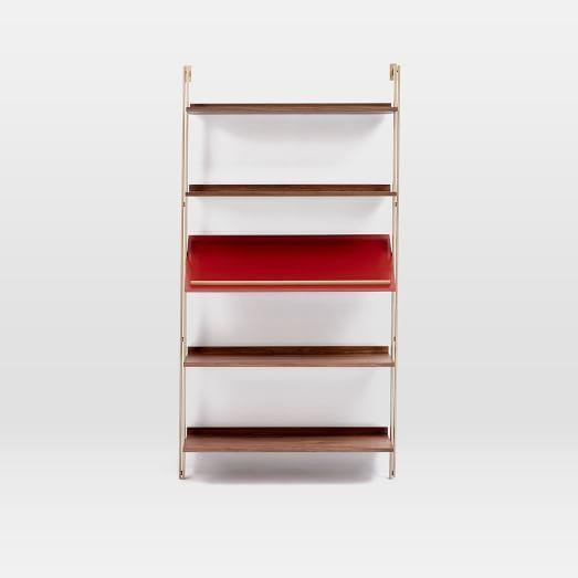 Linden Mid-Century Wide Angled Shelf Unit | west elm