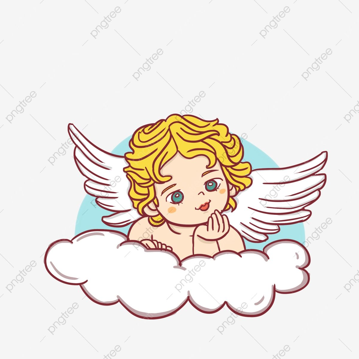 Cartoon Lovely Blond Angel Angel Clipart Little Girl Cartoon Character Png Transparent Clipart Image And Psd File For Free Download Angel Cartoon Cute Pink Background Angel Vector