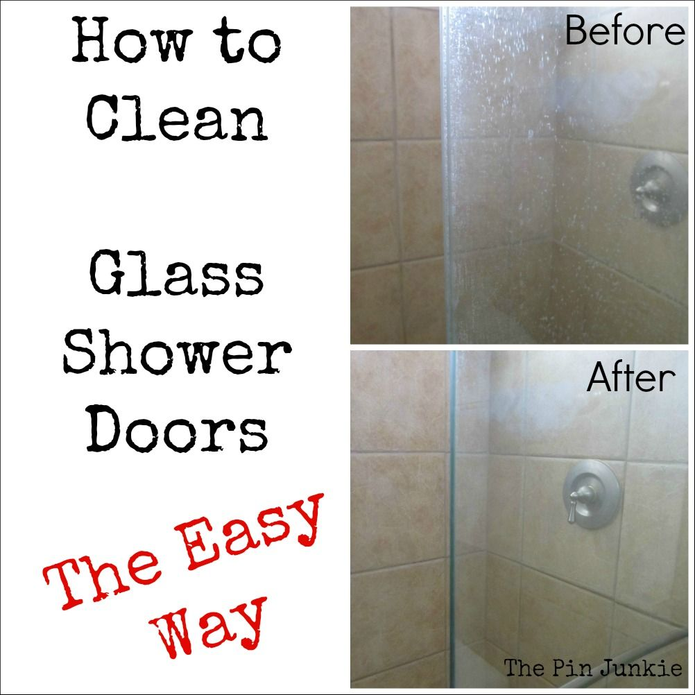 How To Clean Glass Shower Doors The Easy Way Shower Doors Vinegar