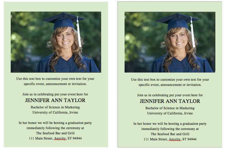 free graduation invitationannouncement template solid color background wordopenoffice compatible insert