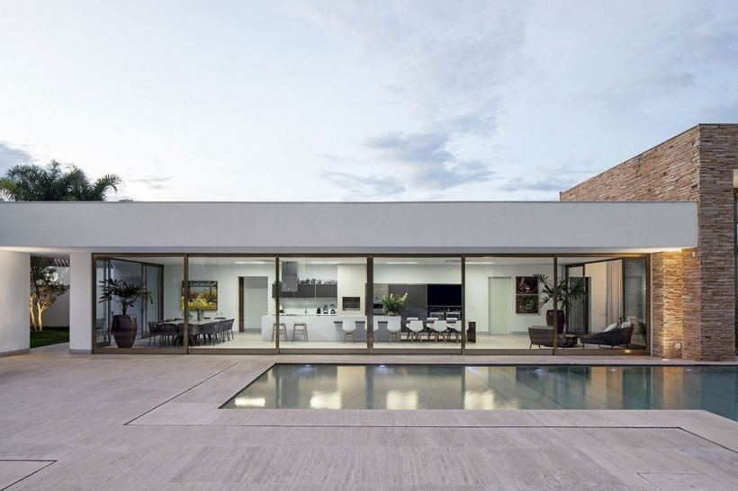simple modern house casa tb by aguirre arquitetura love everything about this house lines