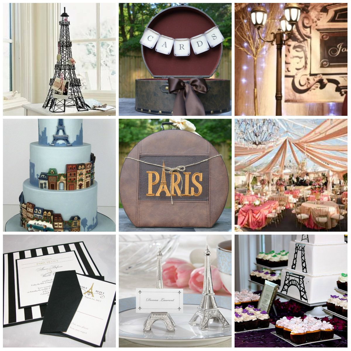 Wedding Party Ideas: Paris Themed Wedding