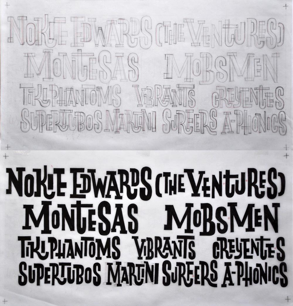Ivan Castro, caligrafia y lettering: Surforama Valencia 2011