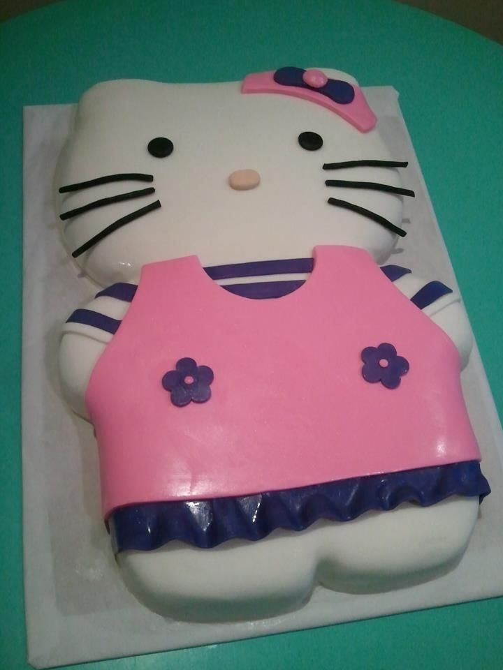Hello Kitty Girls Birthday Cake HPCS 3D Custom Cakes Pinterest