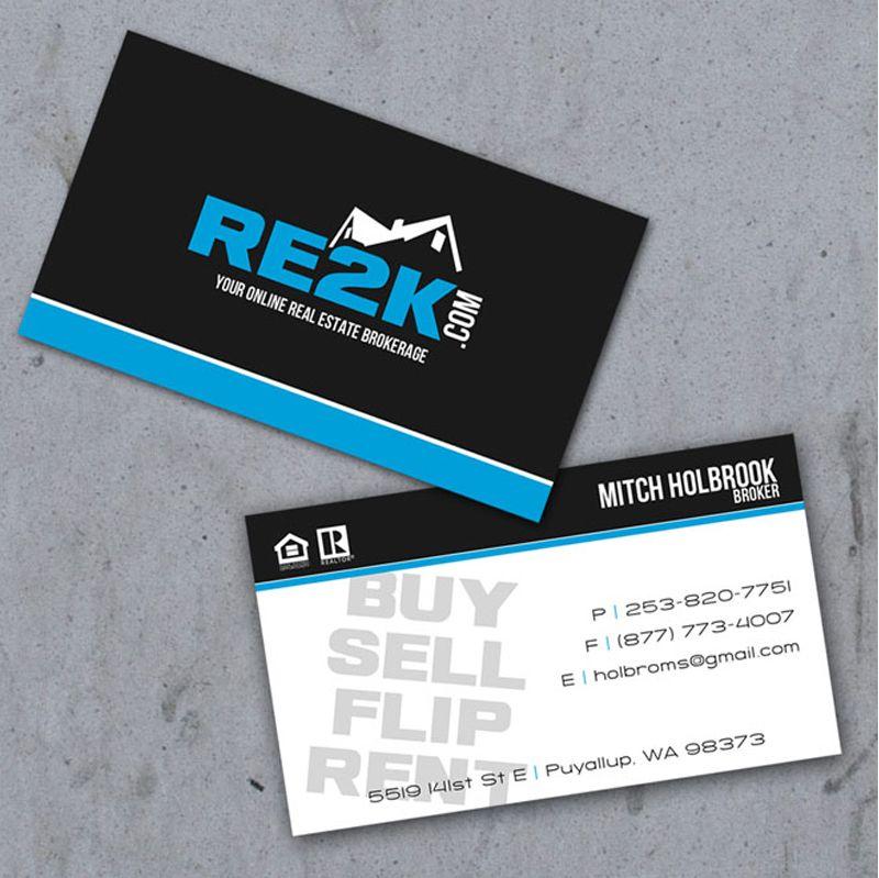 Elegant Real Estate Logo: Creative Business Card Design Ideas For Real Estate And