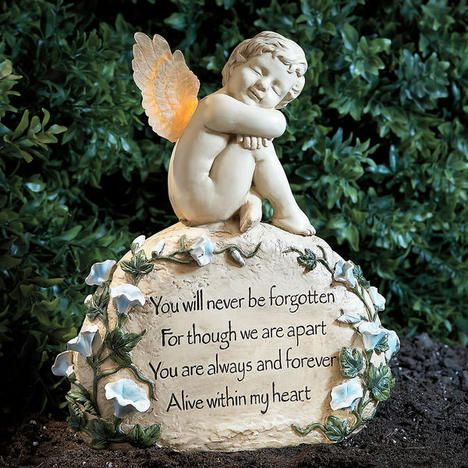 Light Up Angel Memory Marker For My Moms Memory Garden This Year.