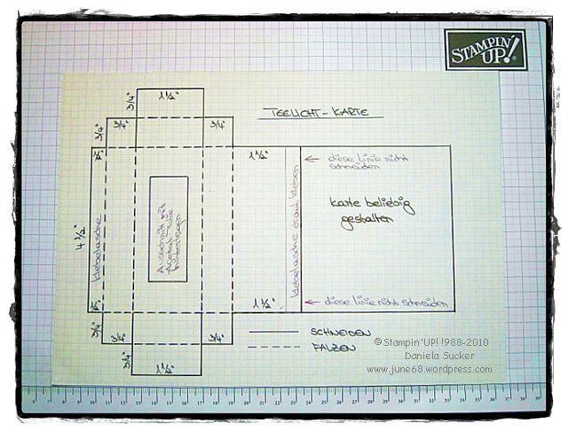 Teelicht-Karte mit Anleitung …..