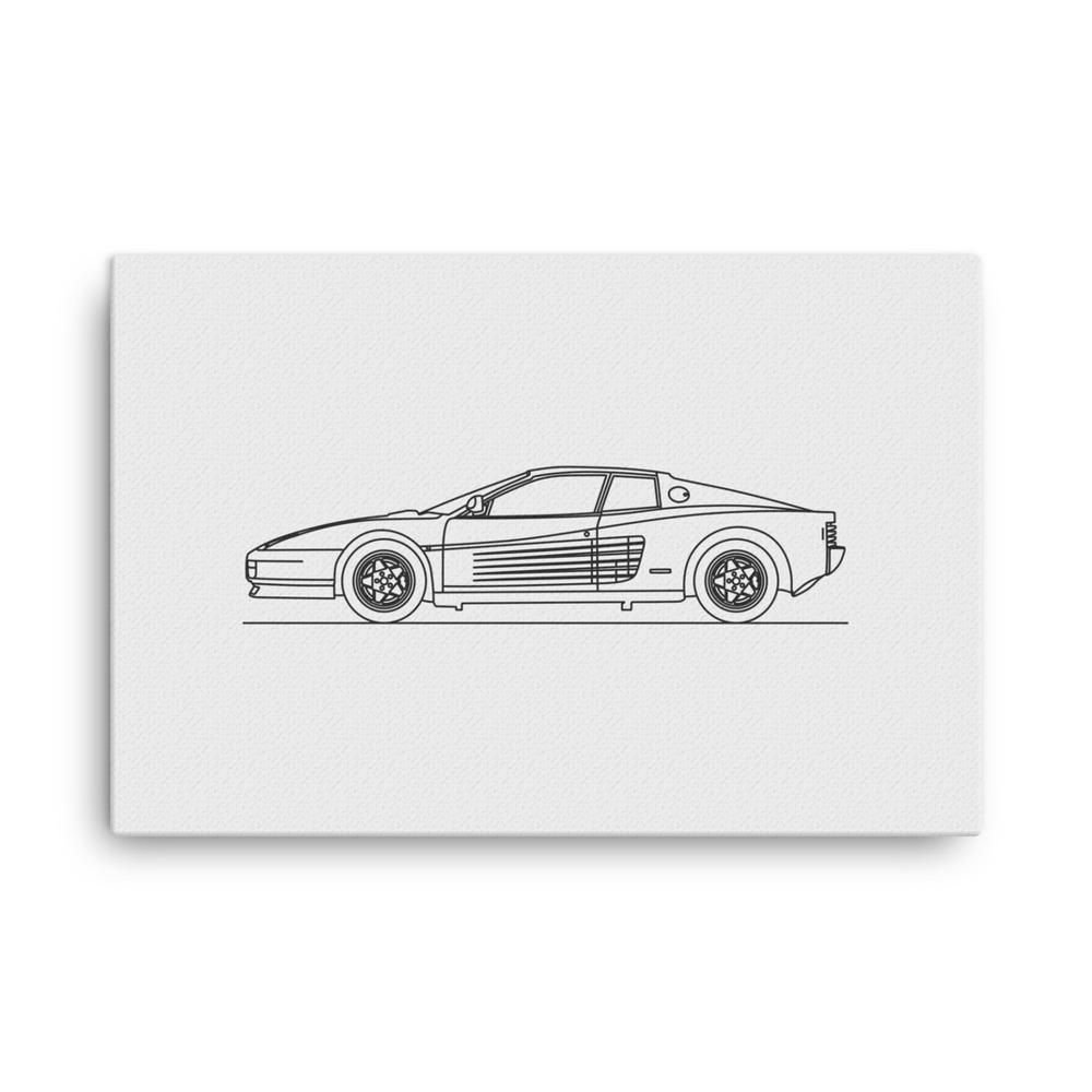 Testarossa minimal line art canvas canvases and products