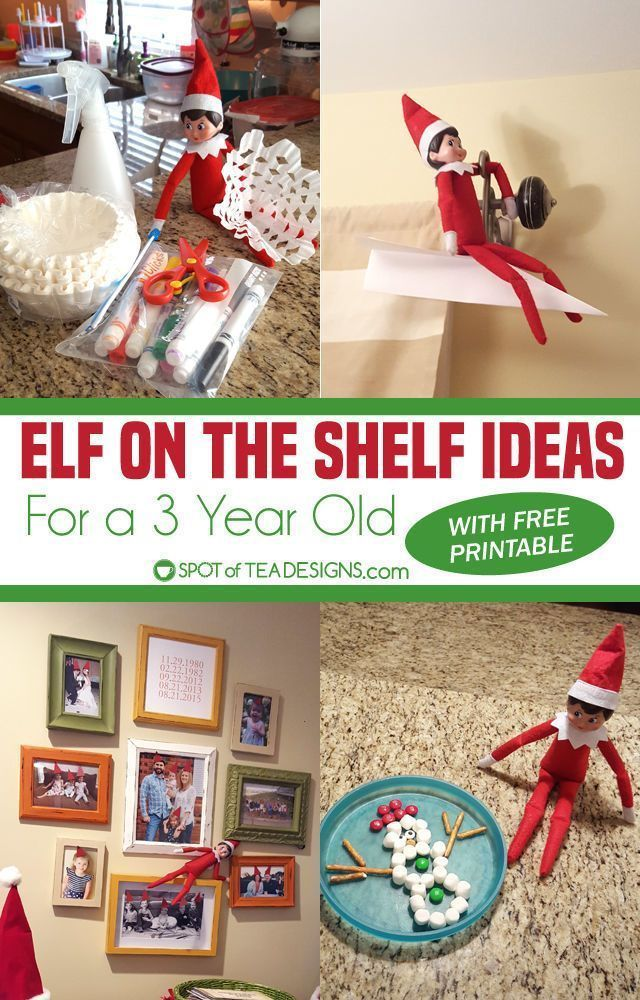 Elf On The Shelf Ideas for a 3 Year Old ,  #Elf #elfontheshelfideasfortoddlersprintables #ide... #elfontheshelfideasfortoddlers