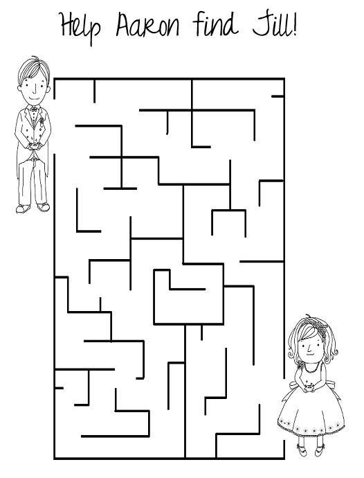 could be part of the kids activity book wedding activity book coloring book coloring pages kids kids at the reception tic tac toe word search etc - Coloring Activities For Children