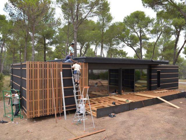maison en bois montee en 4 jours