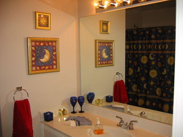 Celestial Themed Bathroom Makeover Sun Stars Moon Oh My Bathroom Makeover Bathroom Decor Kids Bathroom Wall Art