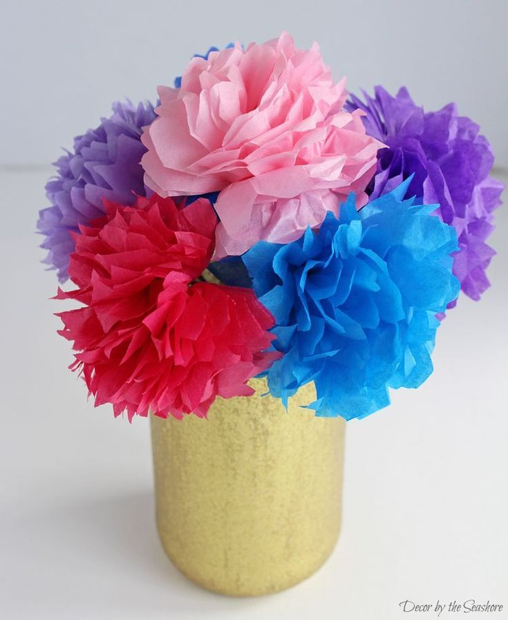 Colorful Easy Tissue Paper Flowers 2019 Paper Flower