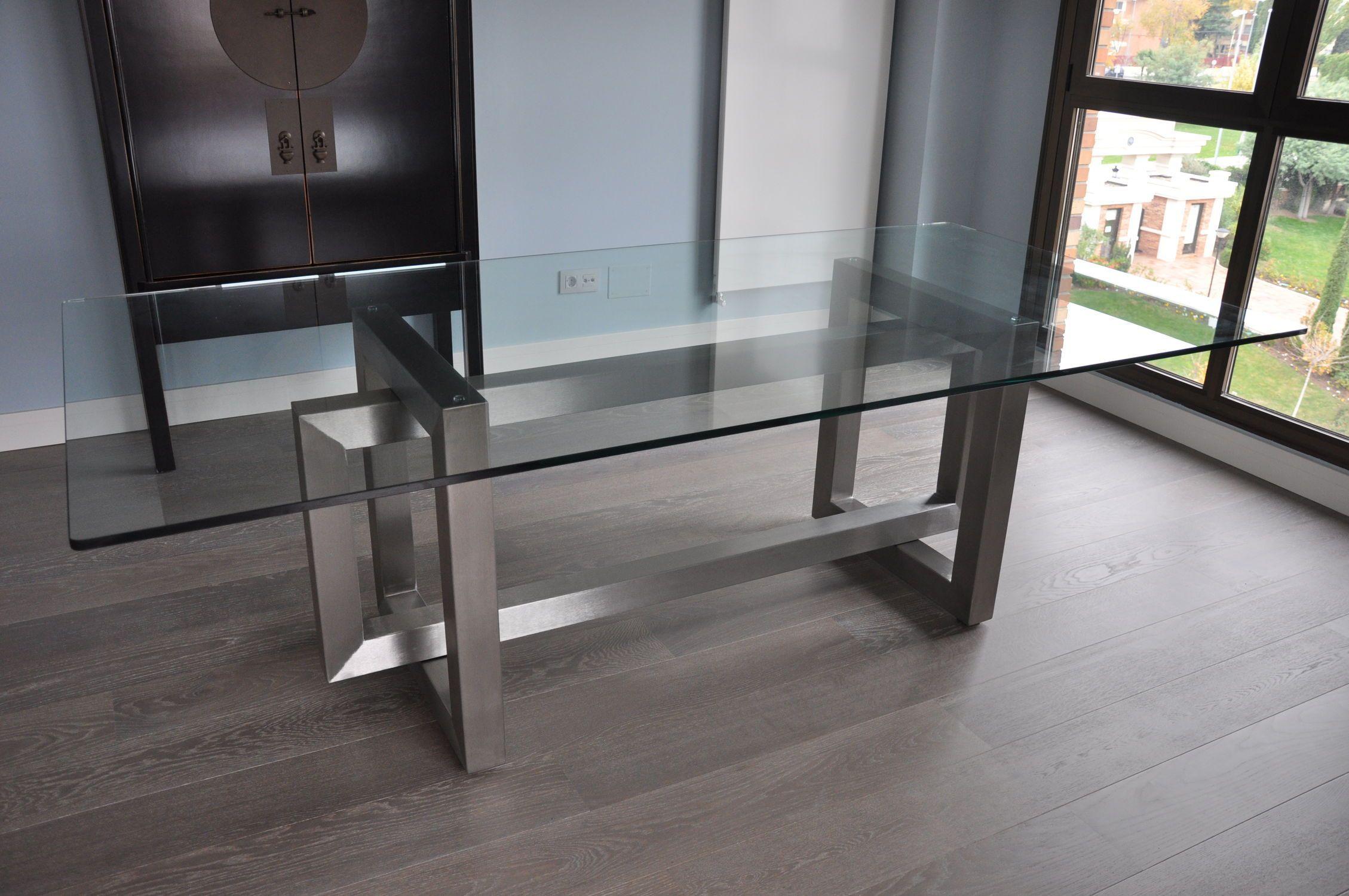 Mesa de comedor rectangular de interior para for Sala comedor comedor rectangular