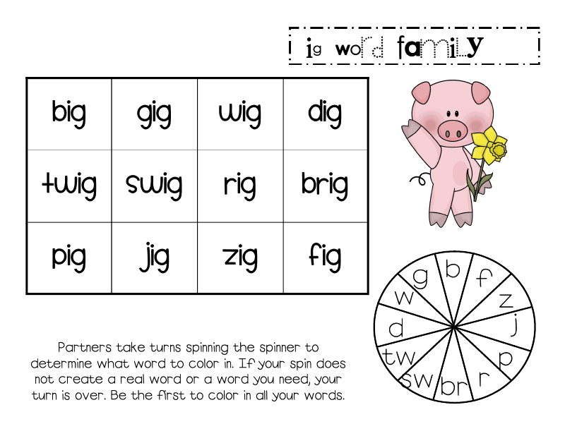 Lory\'s Page: Word Families | Teaching: Reading & Literacy Centers ...