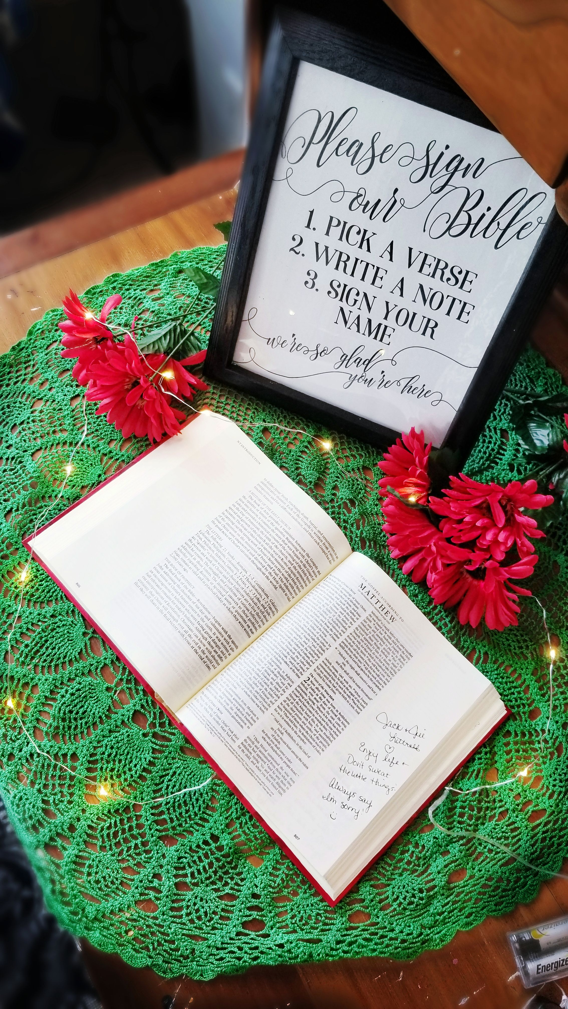 Bible Guest Book Sign Sign Our Bible Sign Highlight Your Etsy In 2020 Wedding Signs Diy Guest Book Table Decor Wedding Bible Guest Book